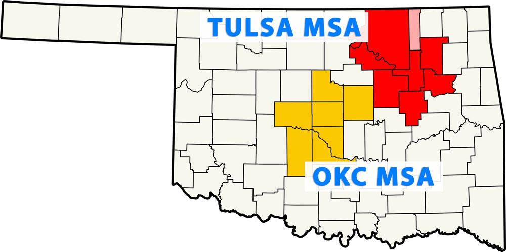 Oklahoma Metropolitan Statistical Areas